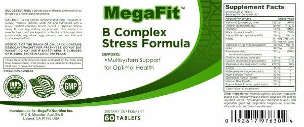 b complex stress formula