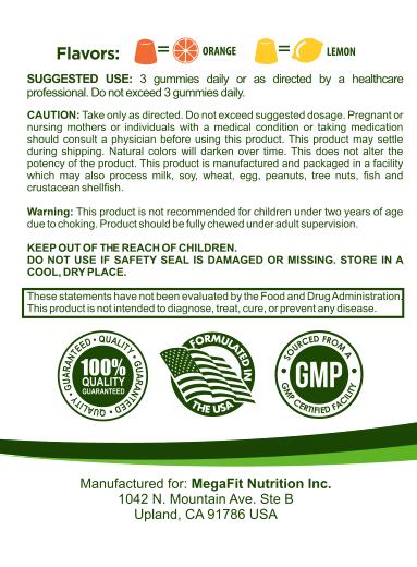 omega 3 nutrition label