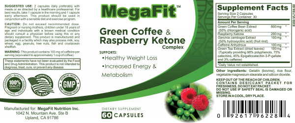 green coffee nutrition facts