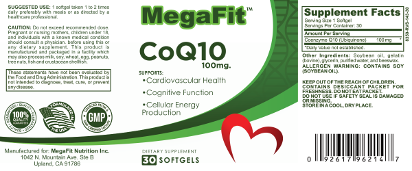coq10 nutrition facts