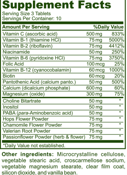 supplements facts label